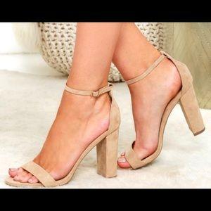 Lulus Taylor Heel Nude Size 5